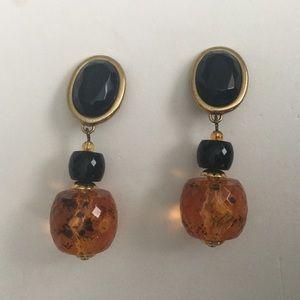Jewelry - Vintage 80's Clip on Earrings